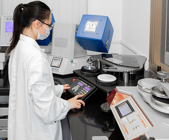 A technician is conducting tests under the ISO standards